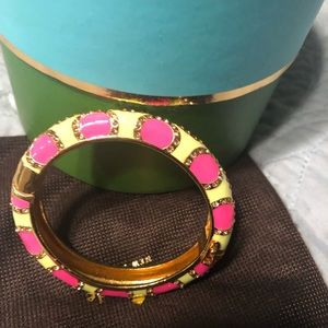 Jewelry - Kate Spade Hinged Pink and Green Bracelet